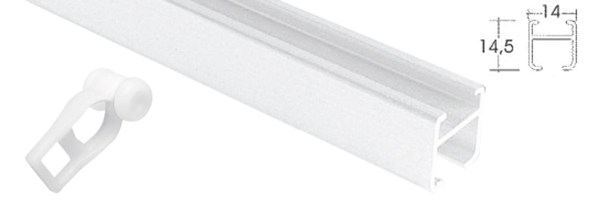 Corredera Simple De Plástico Con Ruedas Para Rieles De Aluminio Blanco