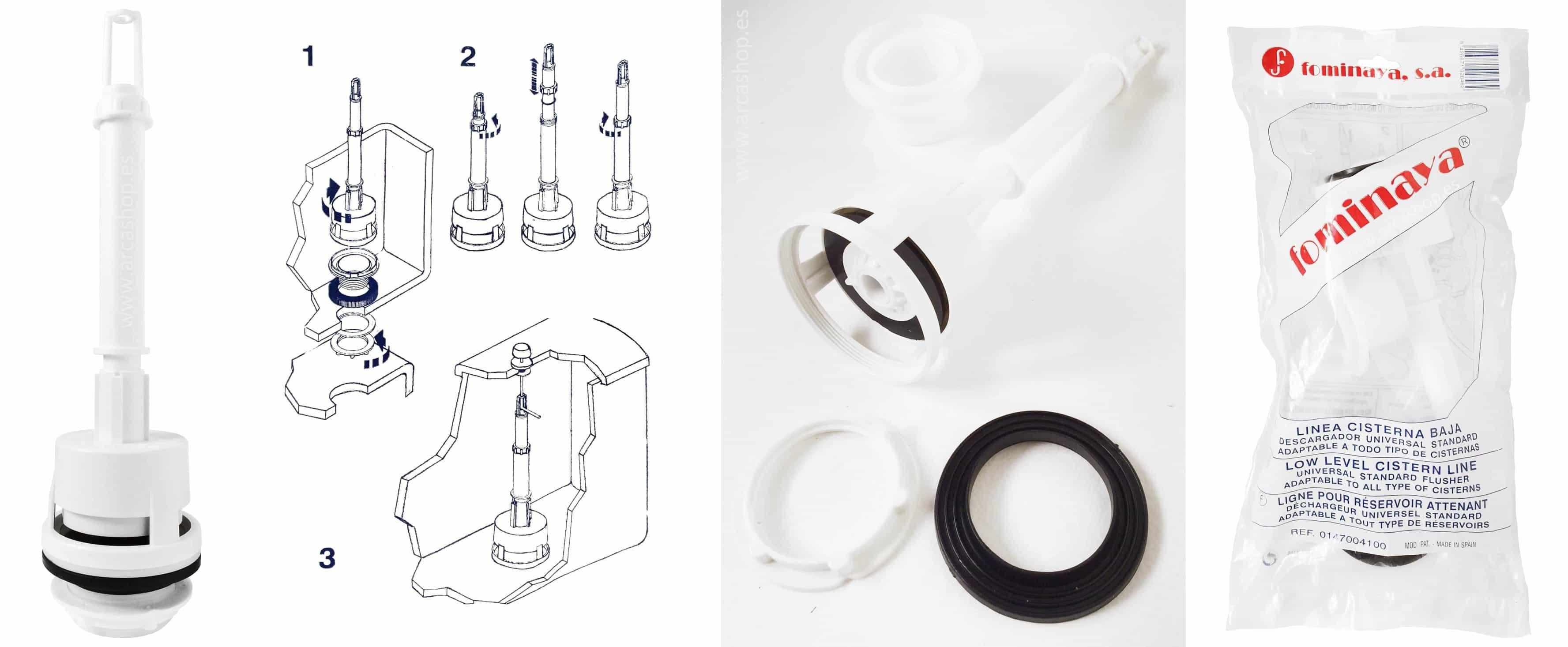 Descargador cisternas universal standard fominaya for Cisternas wc precios