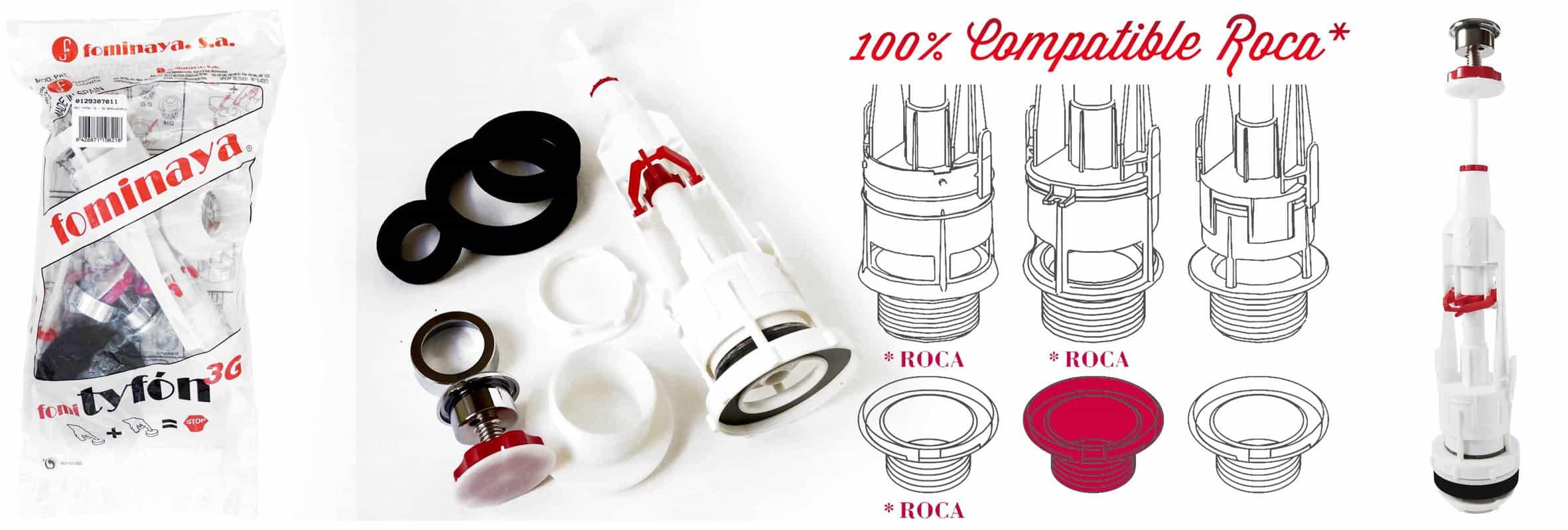Fominaya tyf n 3g 10 mecanismo descargador cisterna con for Accesorios de bano roca precios