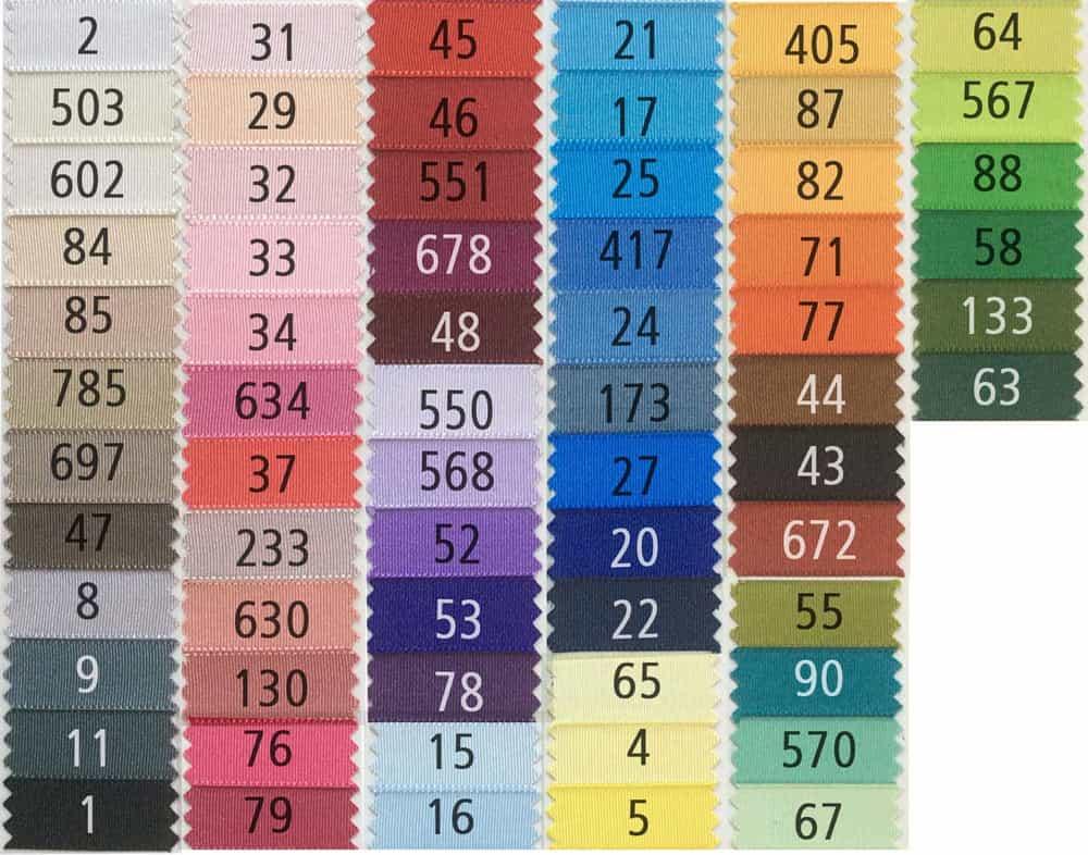 varios colores disponibles 100/% Poliéster 10 M 38 mm del grosgrain Amarillo