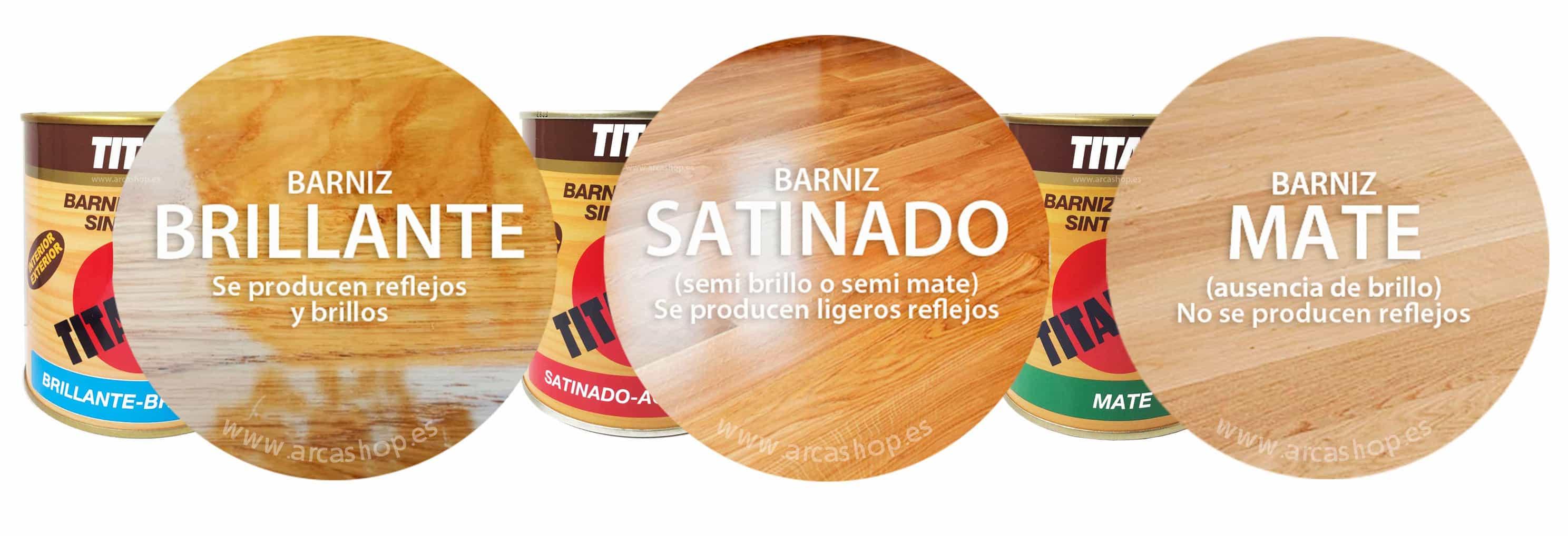 Barniz Incoloro Mate, Satinado y Brillante para maderas ...