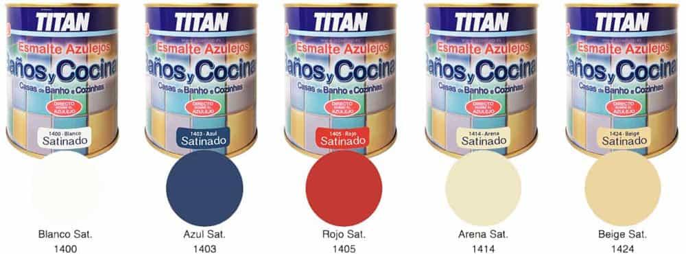 Esmalte azulejos titan ba o y cocina satinado - Pintura pizarra titan ...