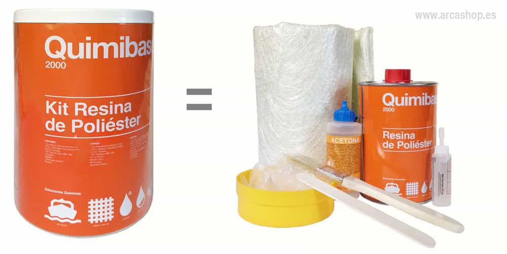 Kit resina poli ster quimibase kit resina poli ster for Arcones de resina para exterior