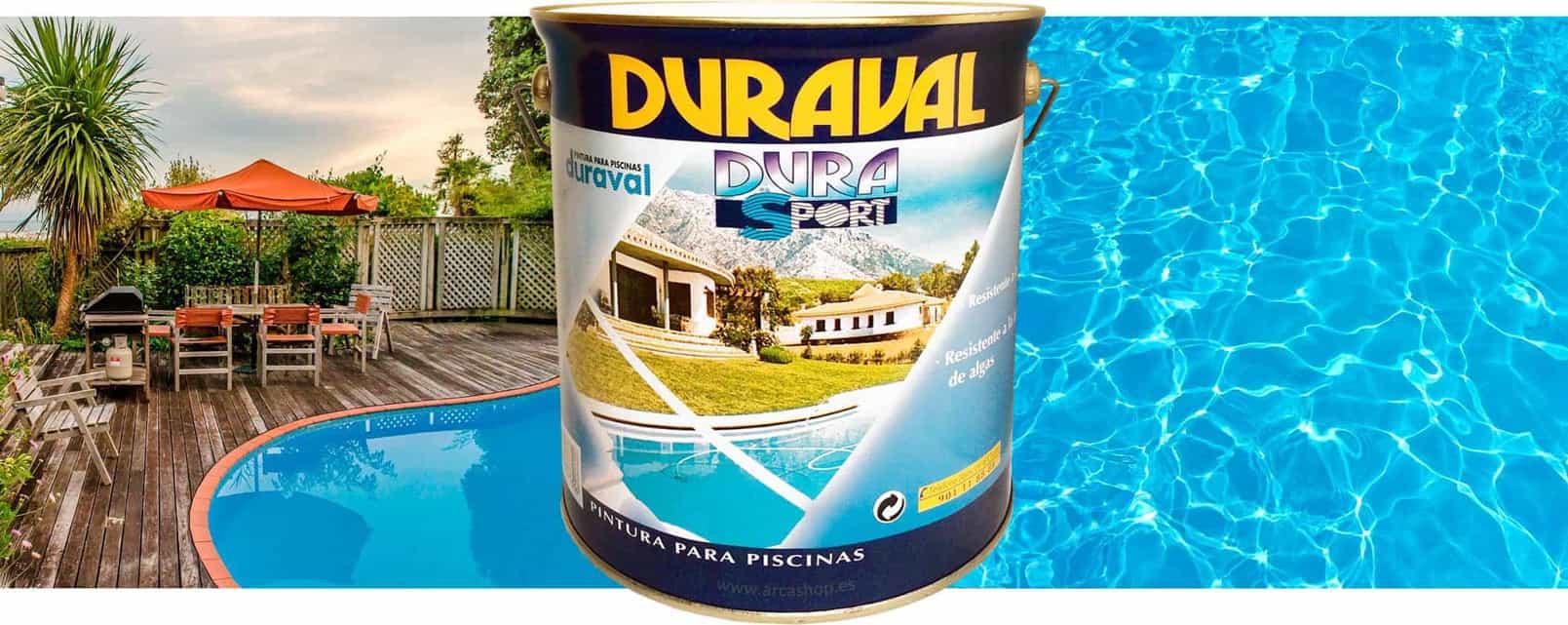 Pintura piscinas azul clorocaucho duraval durasport - Pintura para piscina ...