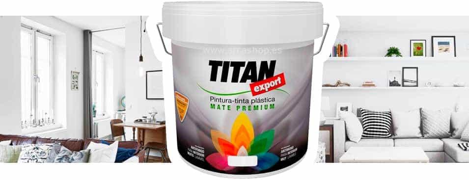 Pintura pl stica blanco mate liso titan export for Mejor pintura interior calidad precio